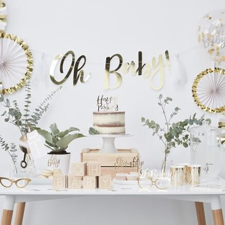 a676f89d0 Baby Shower Party Decorations - Ginger Ray