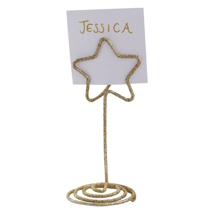 Gold Star Christmas Place Card Holders Ginger Ray