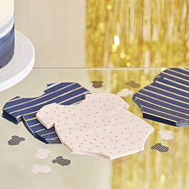 Ginger Ray Star Shaped Gold Foiled Party Paper Napkins 16 Pack Pop The Bubbly